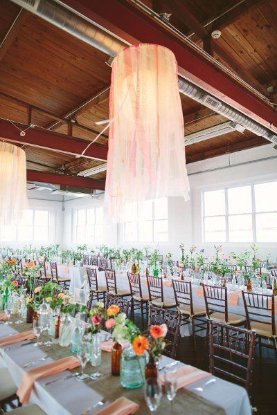 Wedding Reception Inspiration Love The Hanging Decor Reading Art