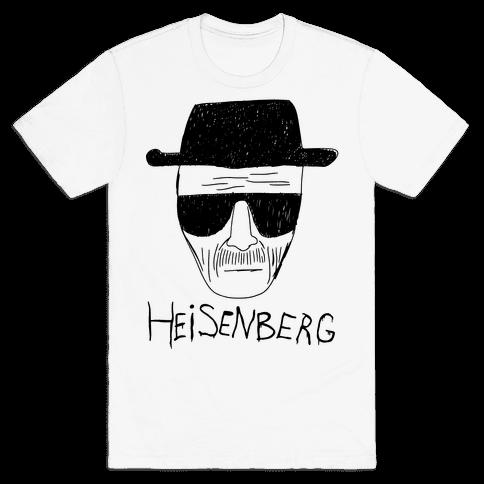 Heisenberg Police Sketch T Shirts Lookhuman Printed Shirts Shirts T Shirt