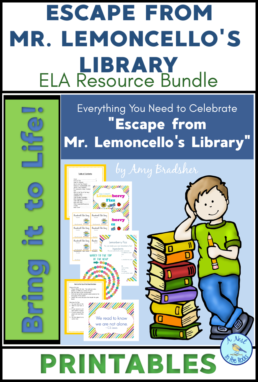 Escape From Mr Lemoncello S Library Novel Resources In