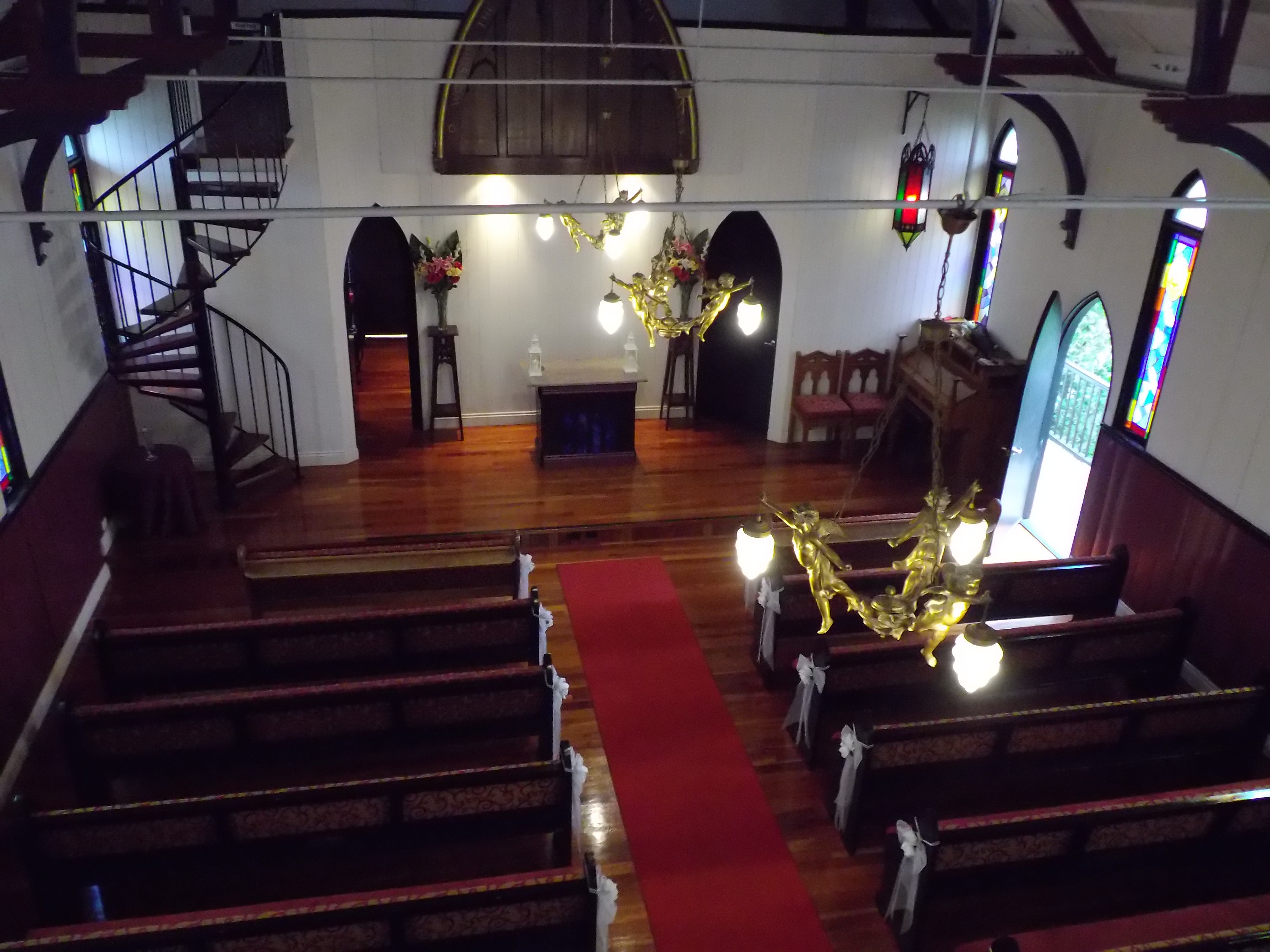 Broadway Chapel From The Balcony Brisbane Celebrant Neal Foster Marriage Performs Weddings Here