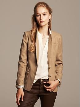 dcaf8c32519 I love this Camel Hacking Jacket with cream blouse
