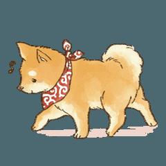 見てるだけで癒される かわいい柴犬の日常がスタンプになって登場 豆柴がやシバケンが大好きな犬好きさん必見の可愛らしいわんこスタンプだよ 犬 イラスト かわいい 柴犬 イラスト かわいい かわいい 動物 イラスト