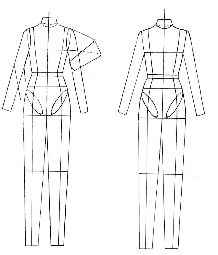 Clothing Templates Fashion Figure Design Template Drawing Clothes