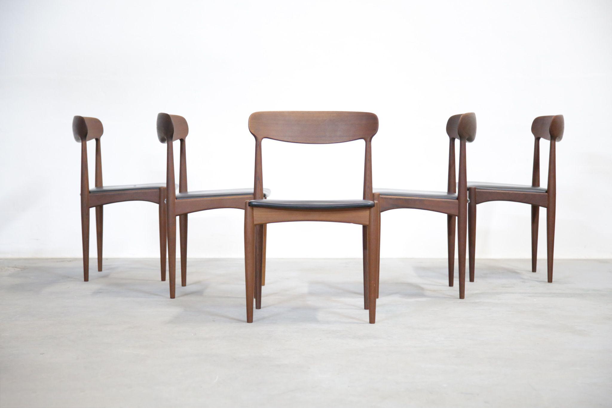 suite de 5 chaises danoise johannes andersen dining chair scandinave design vintage chaises scandinaves du - Chaise Danoise
