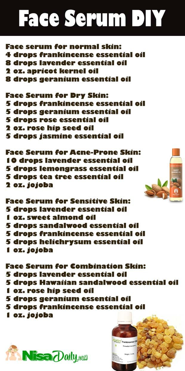 How To Make Face Serum Recipes For Dry Skin, Oily Skin, Normal Skin, Sensitive Skin? | Nisadaily.com