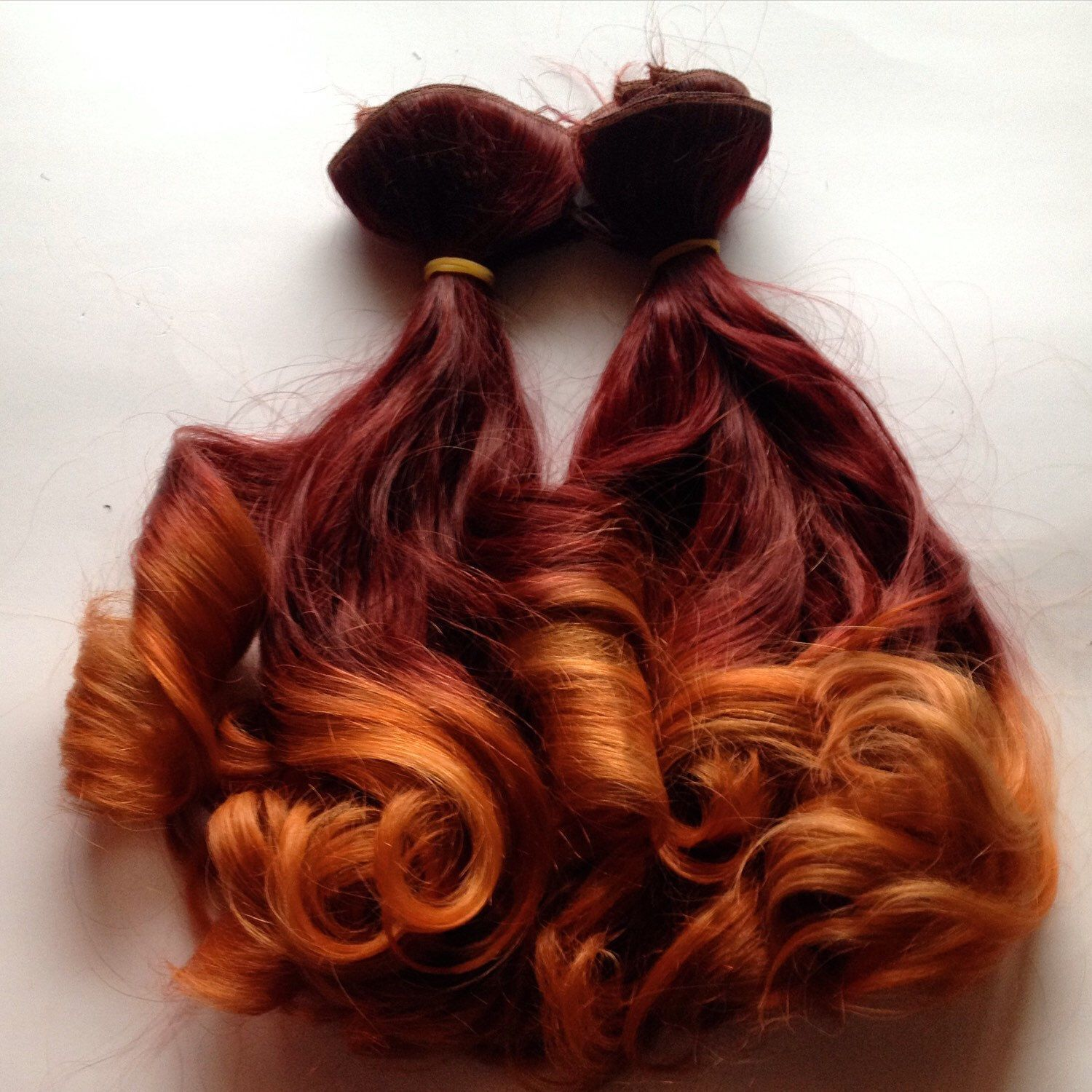 Bright Burgundy Ombr Clip In Human Hair Extensions Cool Red Hair