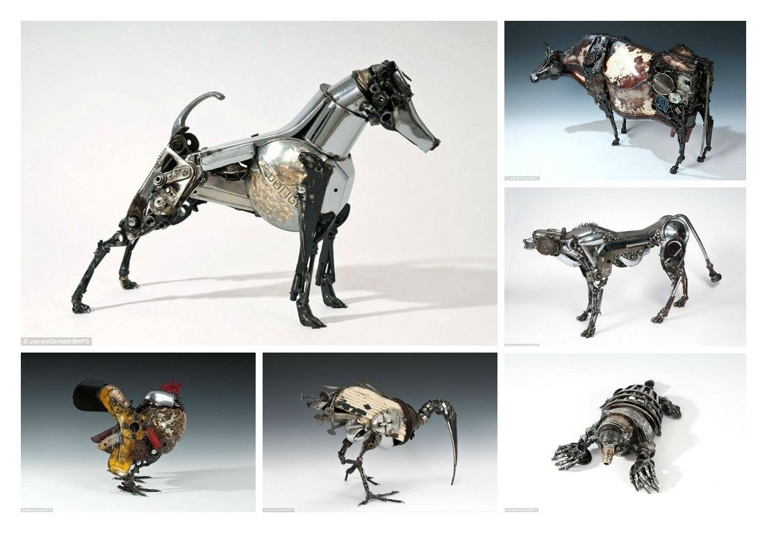 Sculptures Made From Old Car Parts by James Corbett | Yards, Cars ...