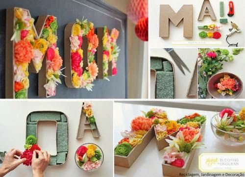 Dica para o dia das mães ficar bem colorido, decorar com flores. Super em alta…
