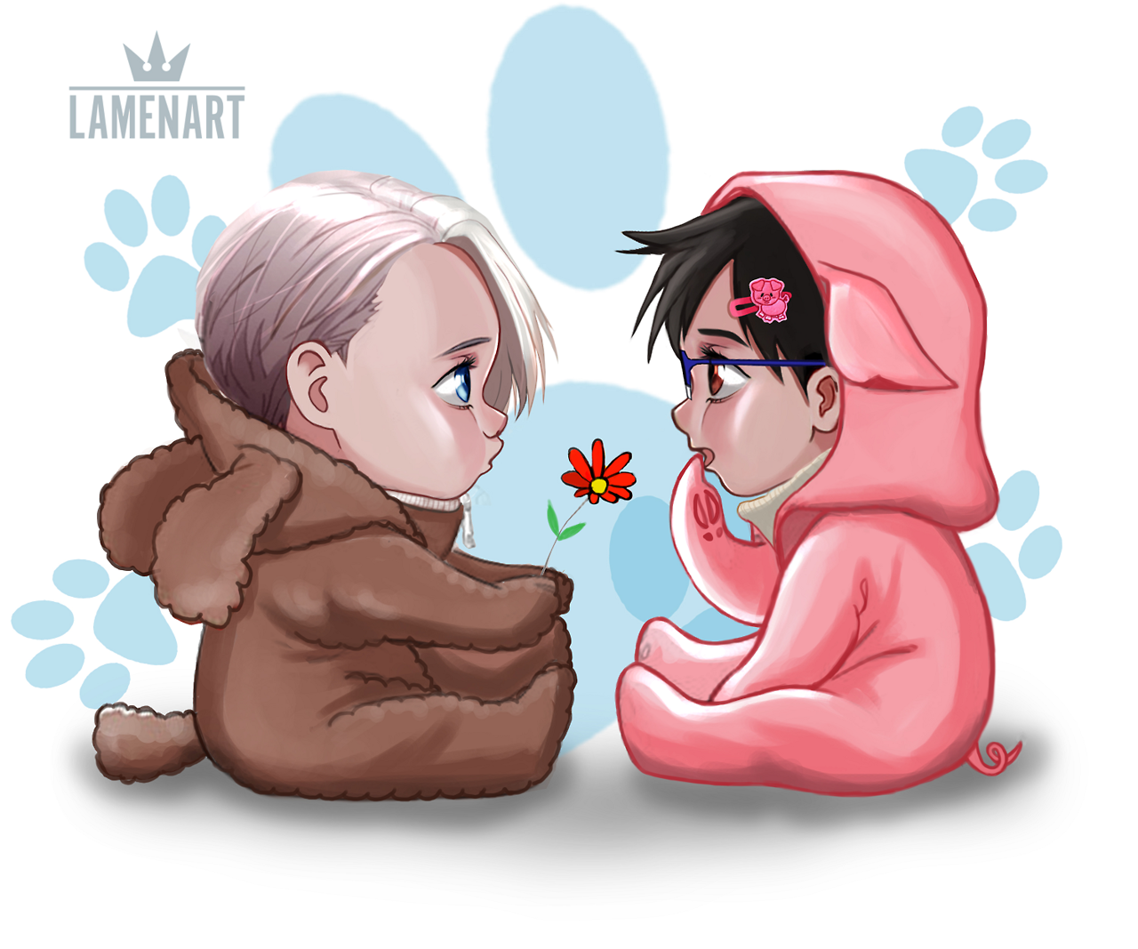 """lamenart """"Baby Victuuri I watched The Boss Baby. So that"""