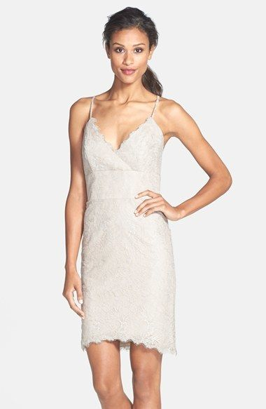 Jim hjelm occasions v-neck lace sheath dress