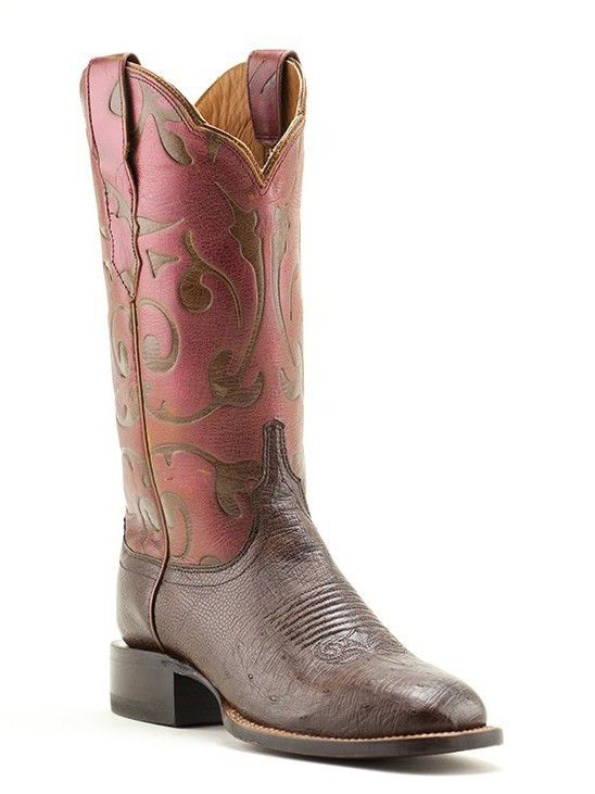 d3b0af4b34c Mens Lucchese Black Cherry Caiman Belly & Smooth Ostrich in 2019 ...