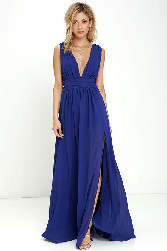 e52fae895e Heavenly Hues Royal Blue Maxi Dress at Lulus.com!