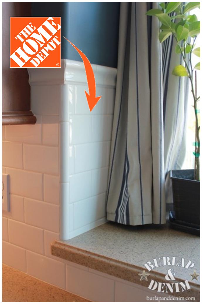 Update Your Kitchen With The Home Depot Tile Around Window Kitchen Tiles Backsplash Kitchen Window Sill