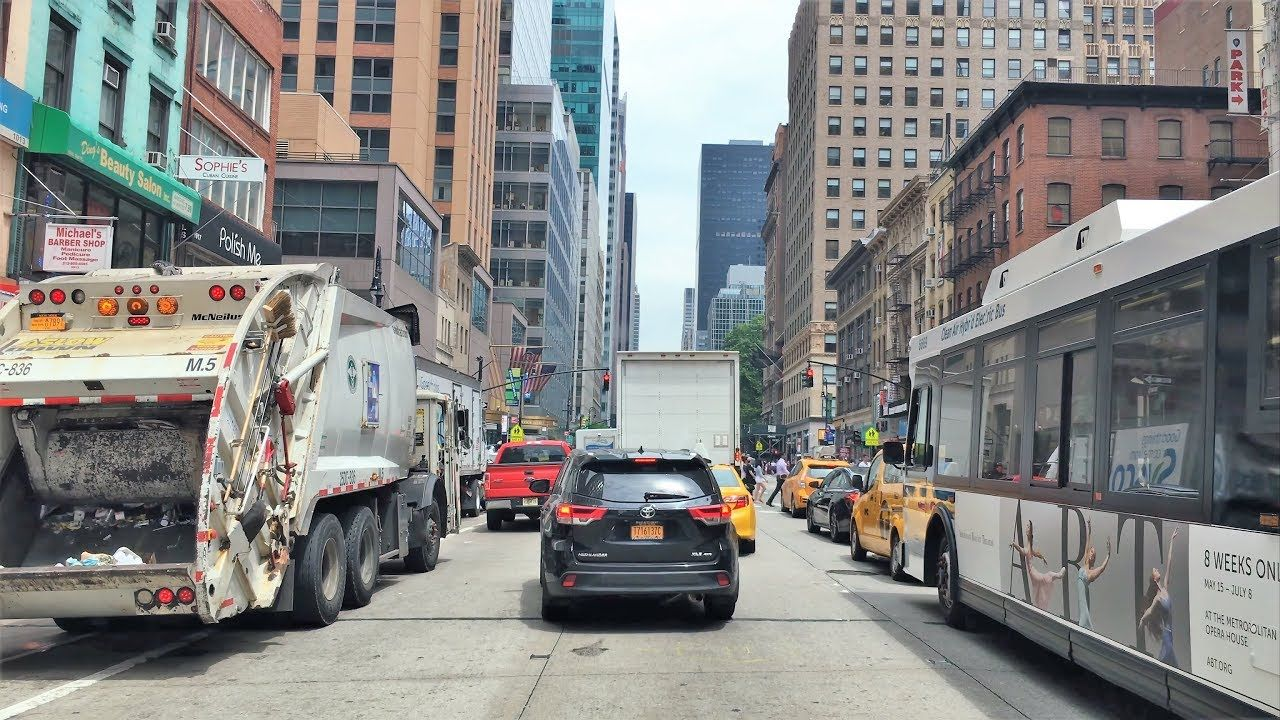 driving downtown 4k nyc