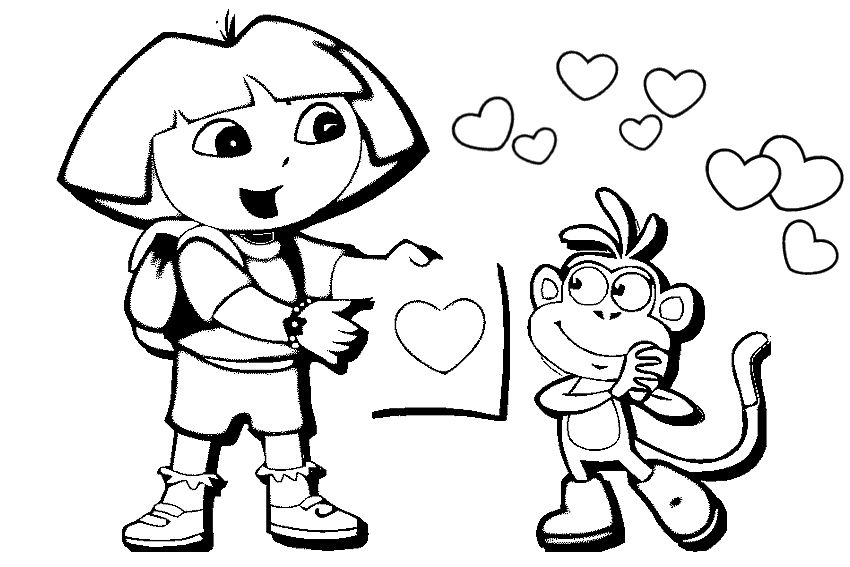 Valentine Coloring Pages 7 inkleur Valentine