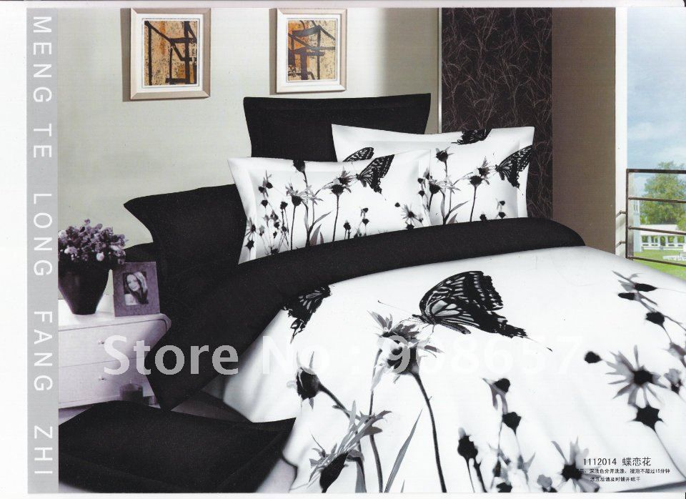 simple and decent bedding sets of high quality with flowers and butterflies king size