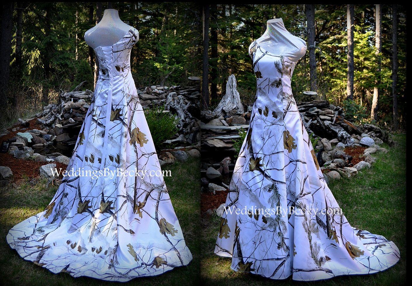 Aline empire waist camo wedding dress uabigailu only from