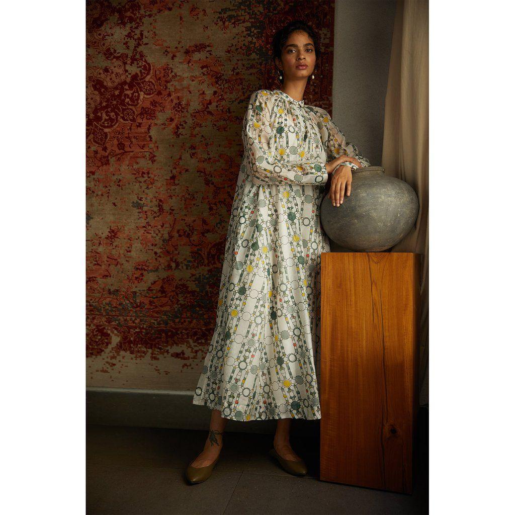 India The Summer House Cheryl Dress Dresses Flowing Dresses Print Dress [ 1024 x 1024 Pixel ]