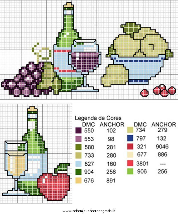 Ponto Cruz de Frutas - PONTO CRUZ - LINDOS GRÁFICOS