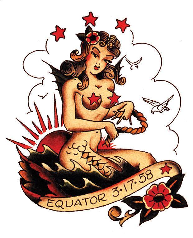 old school mermaid inspiration tattoos pinterest