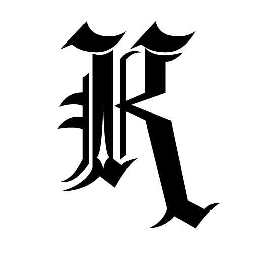 16148fc9f Letter K Designs | Letter K Tattoo Lettering | GD Business Cards ...
