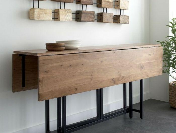 La table de cuisine pliante - 50 idées pour sauver d\u0027espace