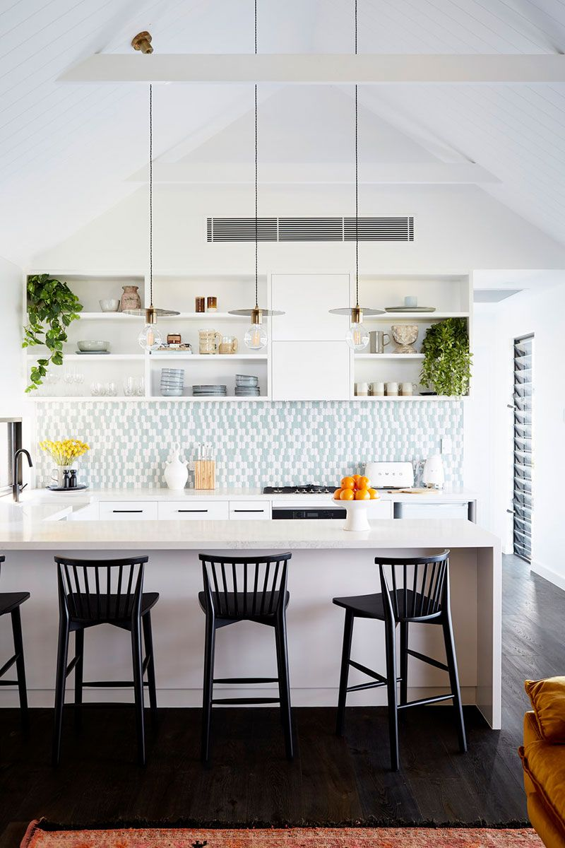 Modern Australian home with unusual roof and large veranda