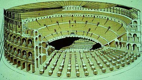 Roman Architecture Colosseum colosseum diagram | history - ancient | pinterest