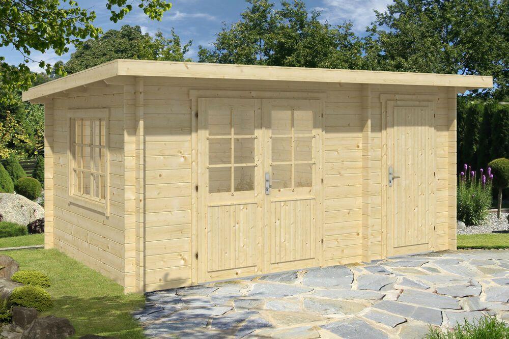 eBay Sponsored 34 mm Gartenhaus Pultdach 45x3 m Anbau