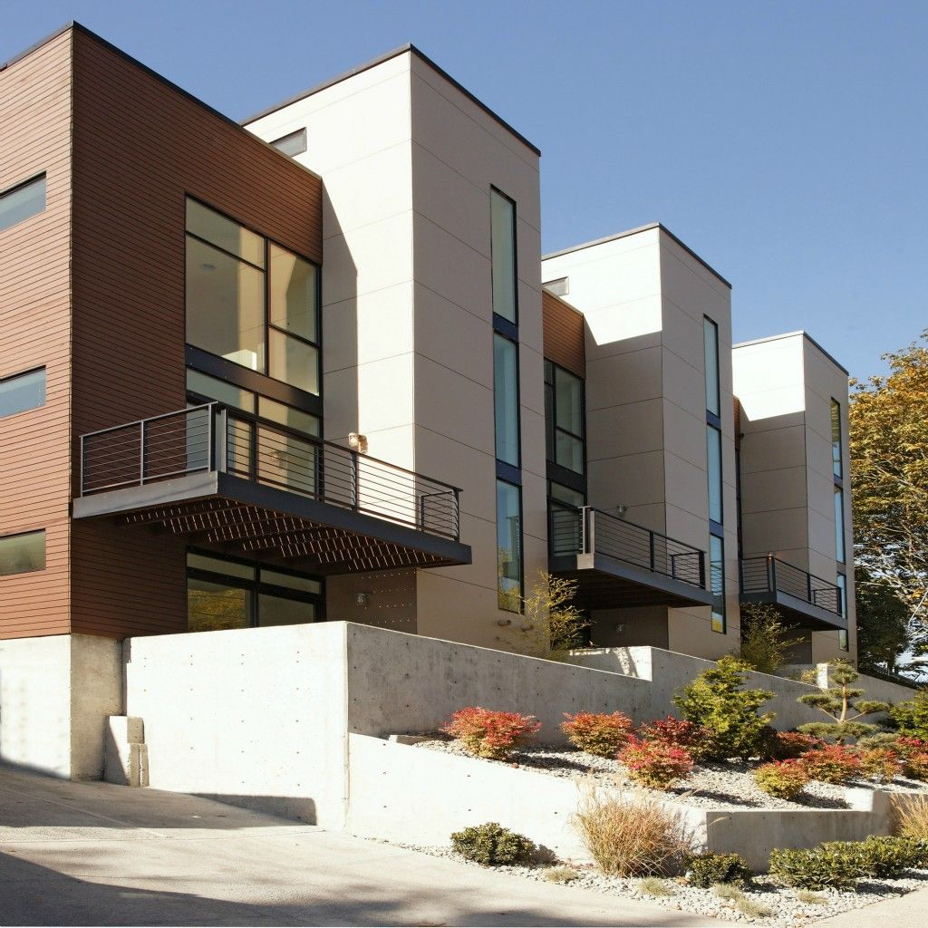 Ultra modern townhouse in seattle 335k home aspiration for Modern townhouse exterior