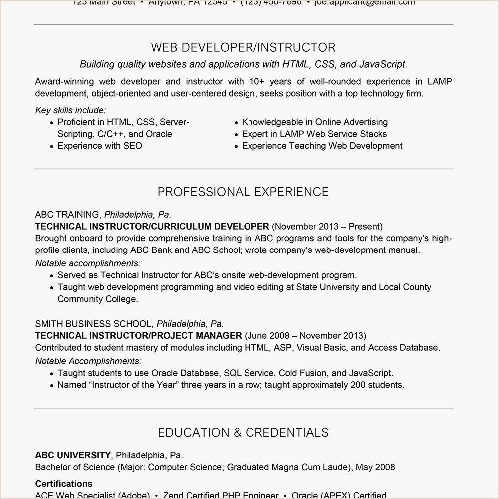 Exemple De Cv HTML Css in 2020 Resume template word