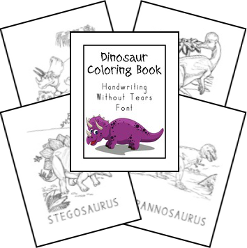 Free Creation Based Dinosaur Unit Study uses Handwriting
