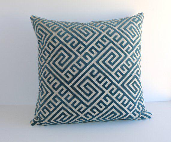 9865da48ace2 Turquoise Velvet pillow cover   Teal Cut Velvet   Geometric velvet pillow  cover -GKV