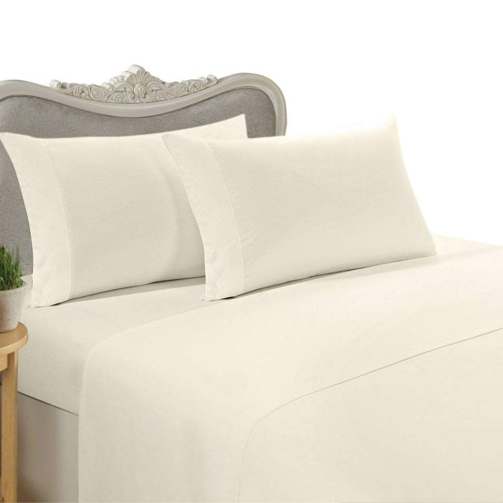 Egyptian Bedding Rayon From Bamboo Sheet Set Full Size Ivory 800