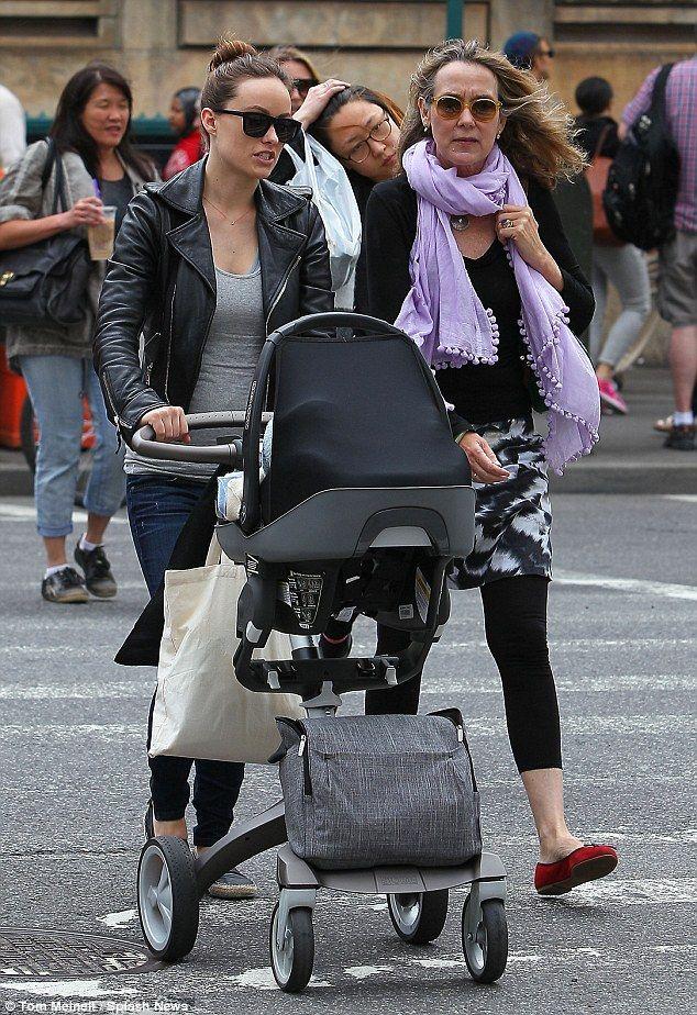 olivia wilde pushes baby otis in a stokke xplory stroller. Black Bedroom Furniture Sets. Home Design Ideas