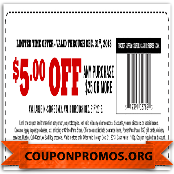 It is a photo of Lucrative Tractor Supply Coupon Printable