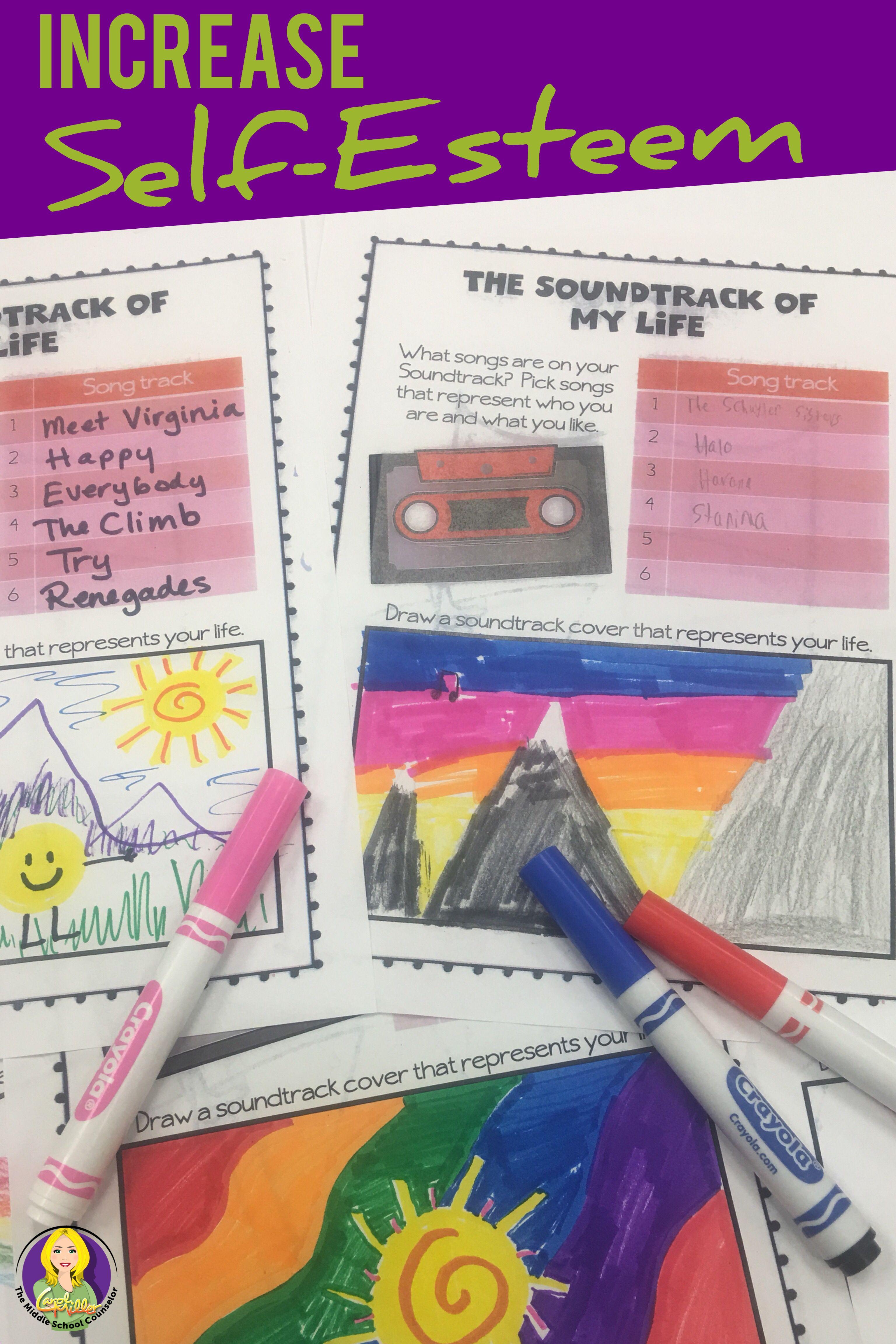 Self Esteem Worksheet For Middle School