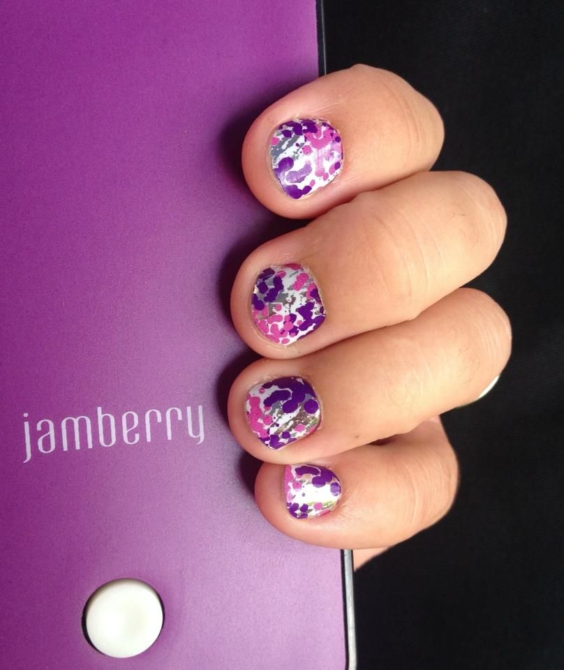 Jamberry Nail Wraps look great on short nails! Check out the Glitz ...