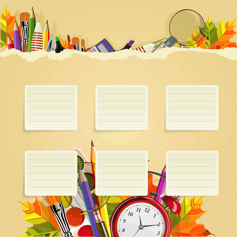 School Schedule Wallpaper Dengan Gambar Kertas Dinding Seni