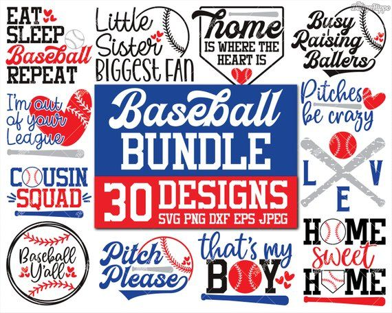 Baseball Svg Bundle Baseball Mom Svg Bundle Love Baseball Etsy Svg Quotes How To Make Tshirts Baseball Mom