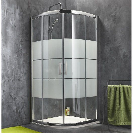 Porte de douche coulissante sensea optima 2 verre for Porte coulissante salle de bain verre
