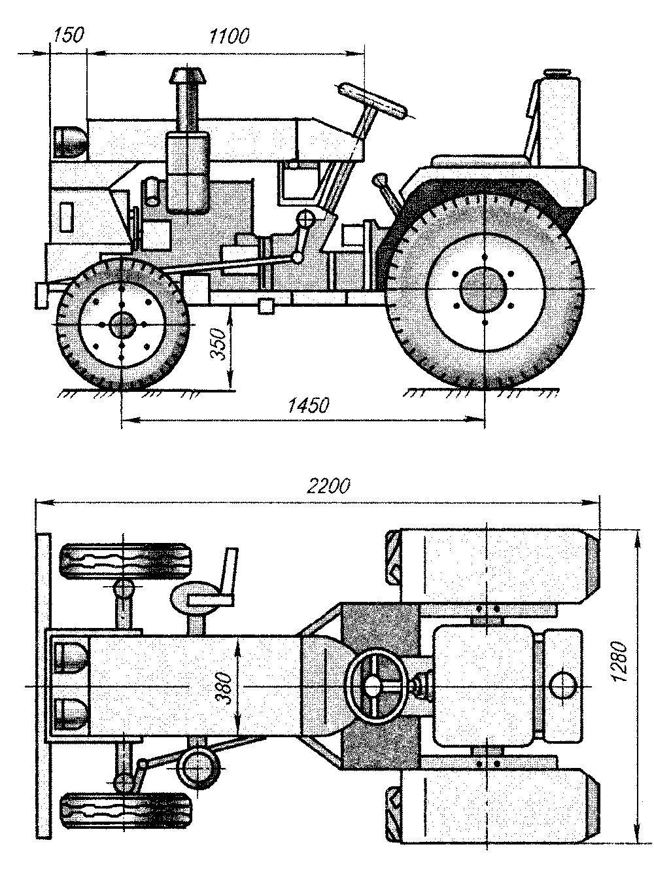 Как сделать самодельный трактор чертежами фото 643