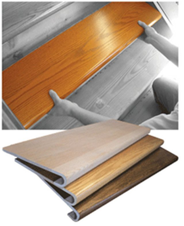 Wood Stair Covers Работы По Дому Своими Руками | Wood Look Stair Treads