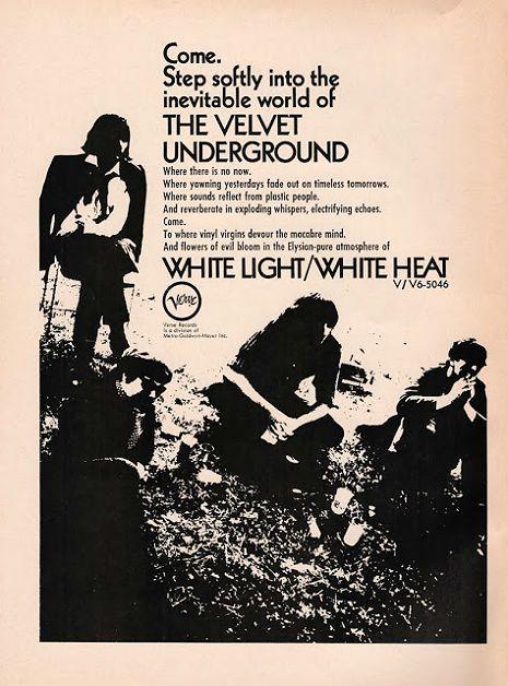 Dangerous Minds   (Nearly) unheard Velvet Underground teaser from upcoming 'White Light/White Heat' box set