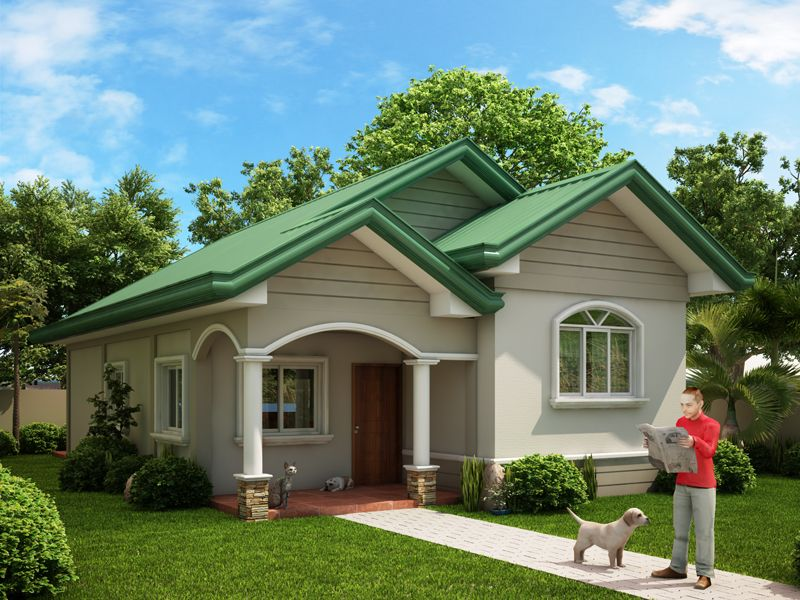 One story dream home series odh 2015002 pinoy dream home for Minimalist bungalow house design