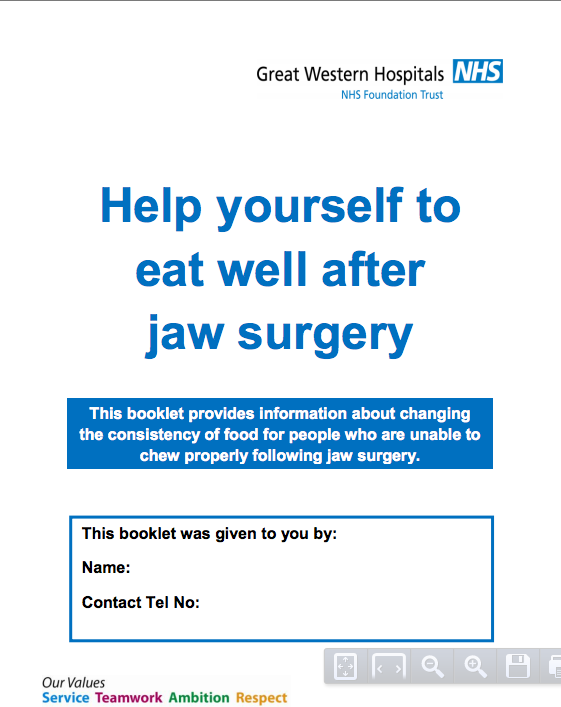 Great manual for post jaw surgery. | Jaw surgery | Pinterest ...