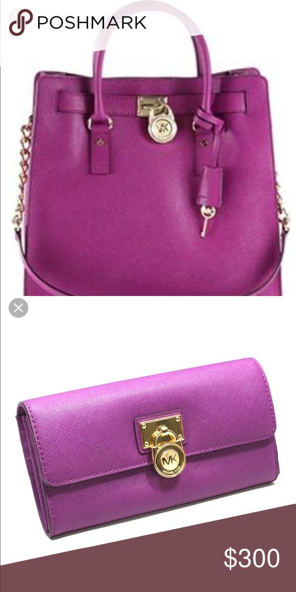 Michael Kors Hamilton Handbag and Wallet Pomegranate colored MK Handbag and  wallet. No stains. No signs of wear. Dusting bag included. Michael Kors Bags  ... 8f1df3b01e