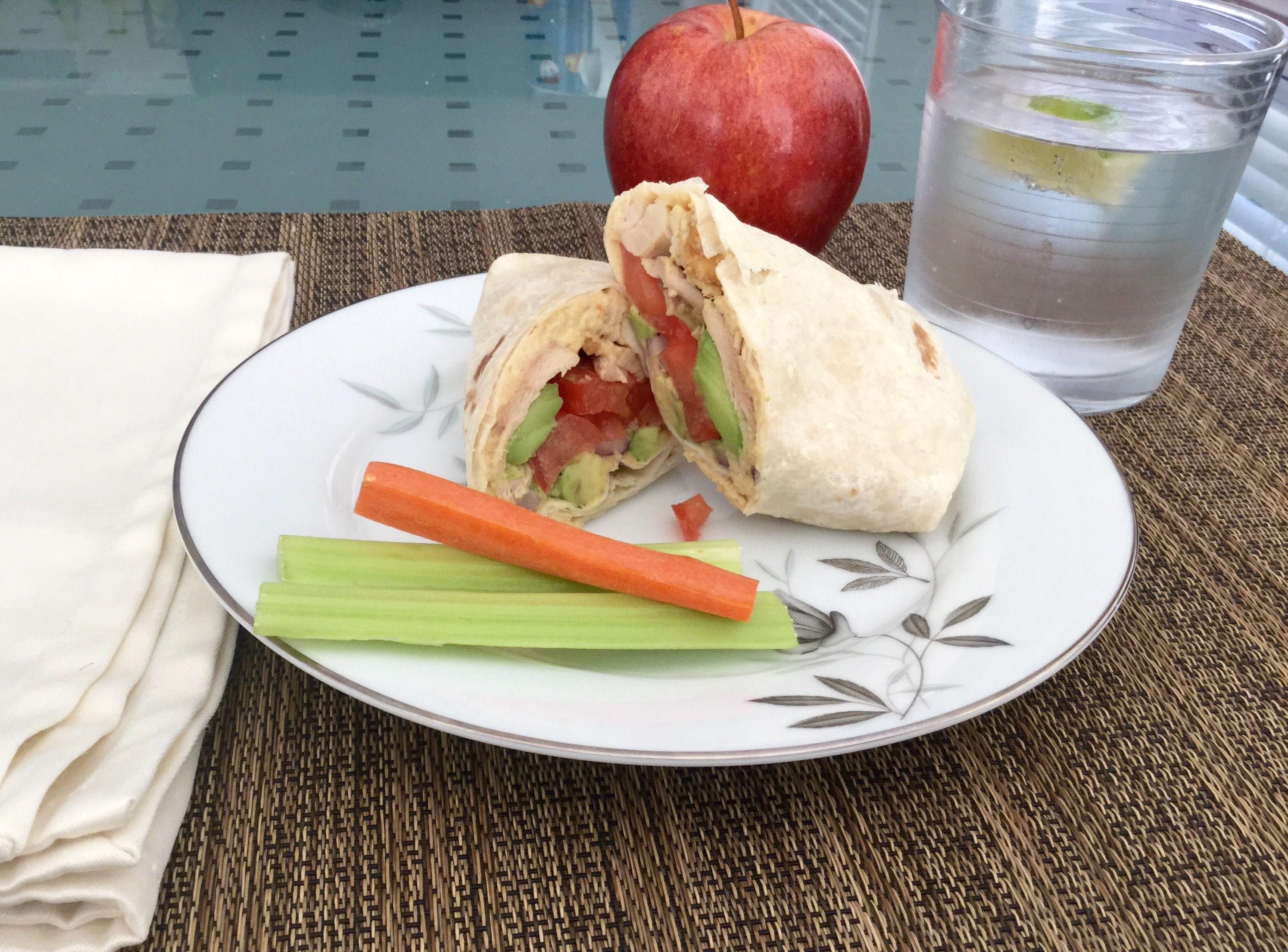 Chicken, Hummus & Avocado Wrap
