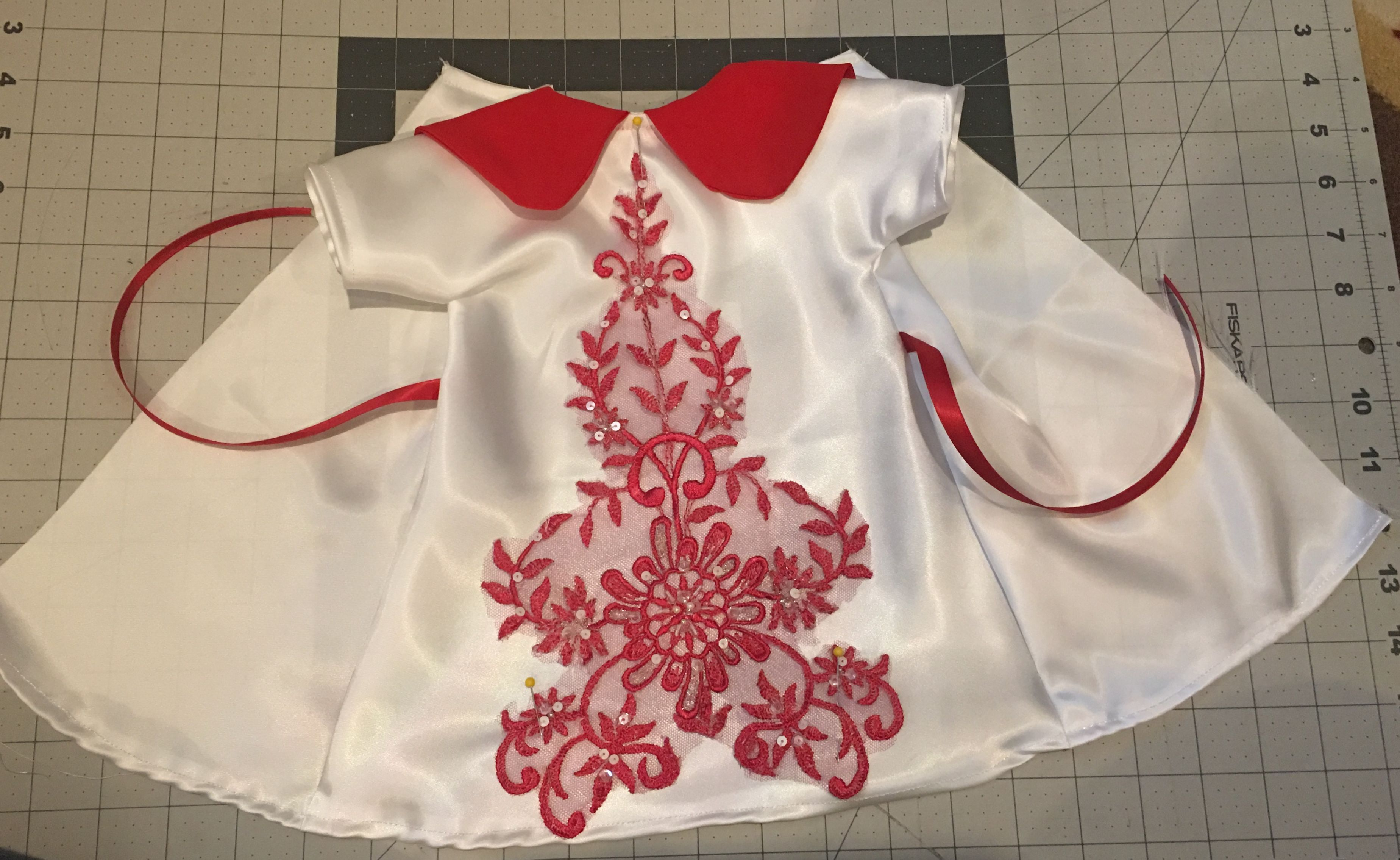 Another red dress i did today angel gowns for babies born