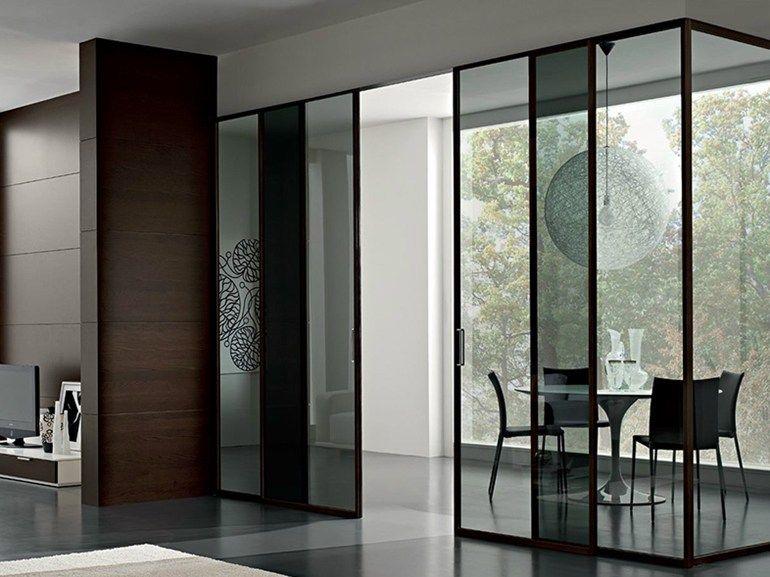 Glass sliding door GDESIGNER Design Series by GAROFOLI Doors - pose de porte interieur